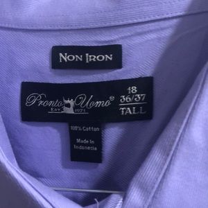 High quality Pronto  non-iron lavender dress shirt